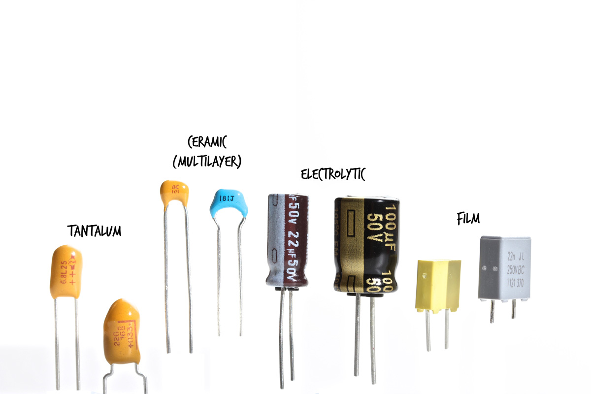 hight resolution of the electrolytic and tantalum capacitors are polarized and must be inserted in the correct direction the film and ceramic capacitors are not