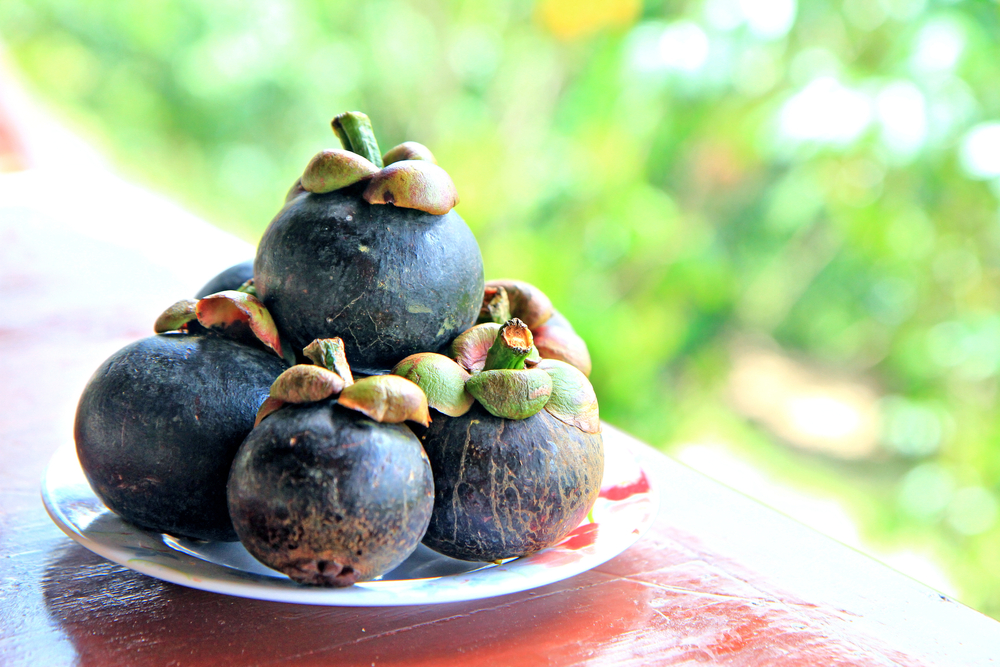 mangosteen fruits in a plate