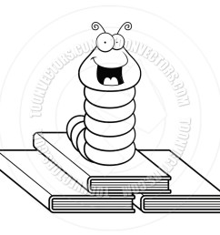 book worm clip artblack and white clipart clip art worm image [ 900 x 900 Pixel ]