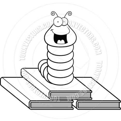 small resolution of book worm clip artblack and white clipart clip art worm image