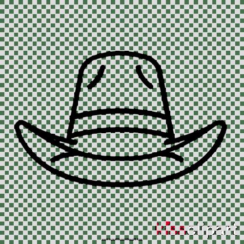 small resolution of sombrero vaquero para colorear clipart cowboy hat