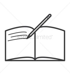 download open book with pen black and white clipart book clip art book writing rectangle [ 900 x 900 Pixel ]