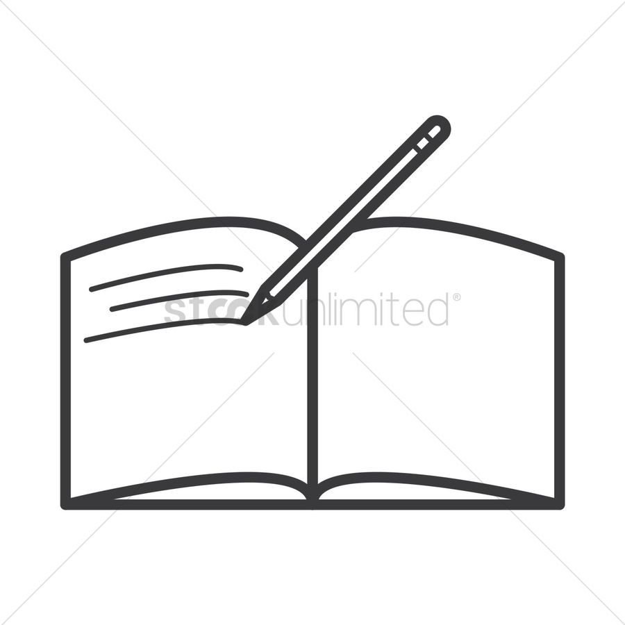 hight resolution of download open book with pen black and white clipart book clip art book writing rectangle