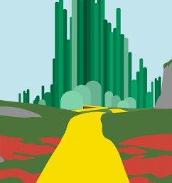download wizard of oz minimalist poster clipart the wizard of oz the wonderful wizard of oz emerald city grass tree sky [ 900 x 1125 Pixel ]
