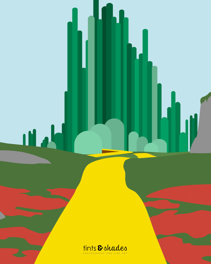hight resolution of download wizard of oz minimalist poster clipart the wizard of oz the wonderful wizard of oz emerald city grass tree sky