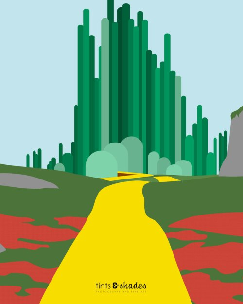 small resolution of download wizard of oz minimalist poster clipart the wizard of oz the wonderful wizard of oz emerald city grass tree sky