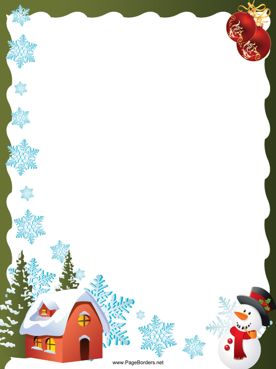 medium resolution of a4 christmas borders clipart paper christmas day clip art