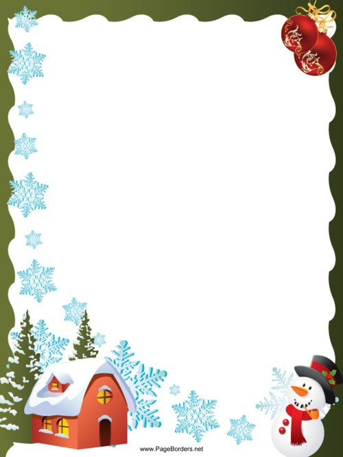 small resolution of a4 christmas borders clipart paper christmas day clip art