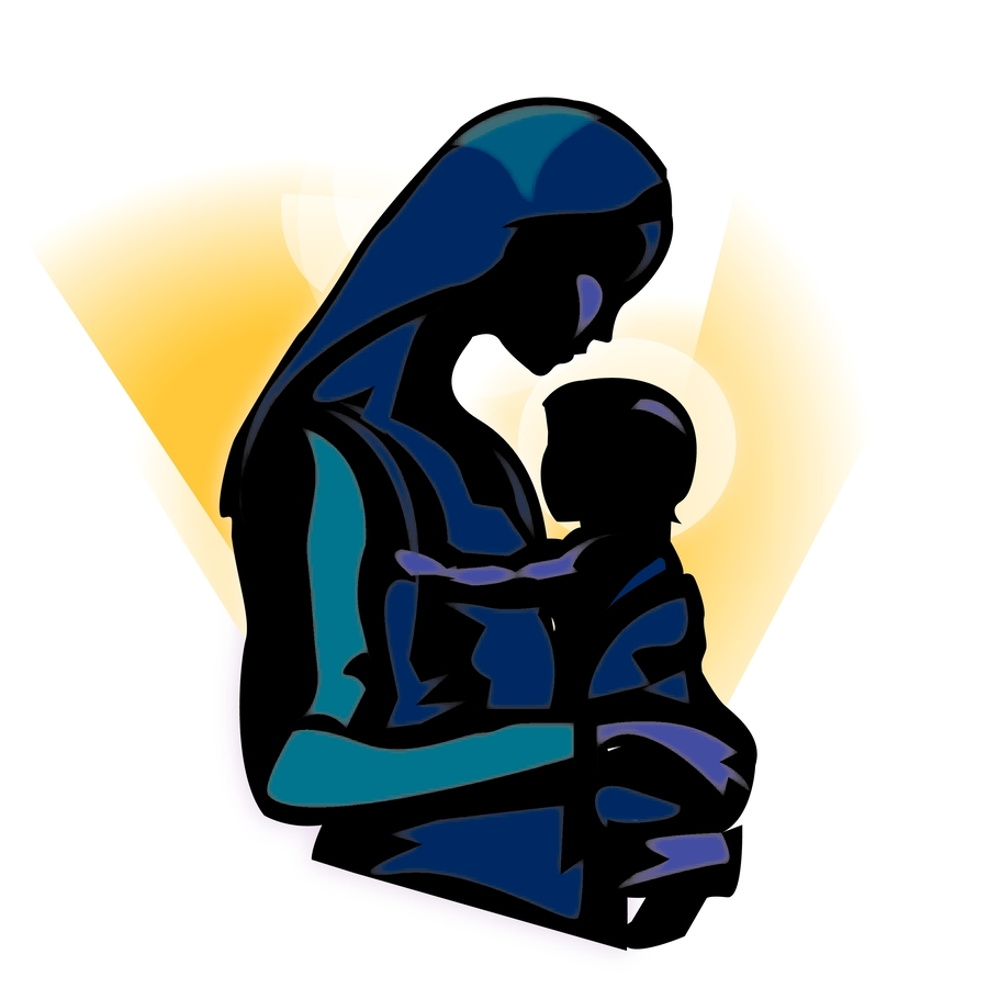 hight resolution of download silhouette of mary and baby jesus clipart christ child madonna clip art child