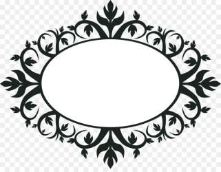 Circle Flower Border Clipart Black And White Get Images Four