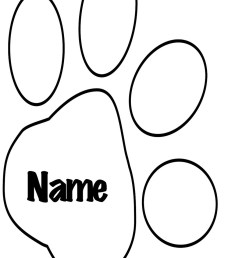 wolf paw print template clipart dog tiger cat [ 900 x 1322 Pixel ]