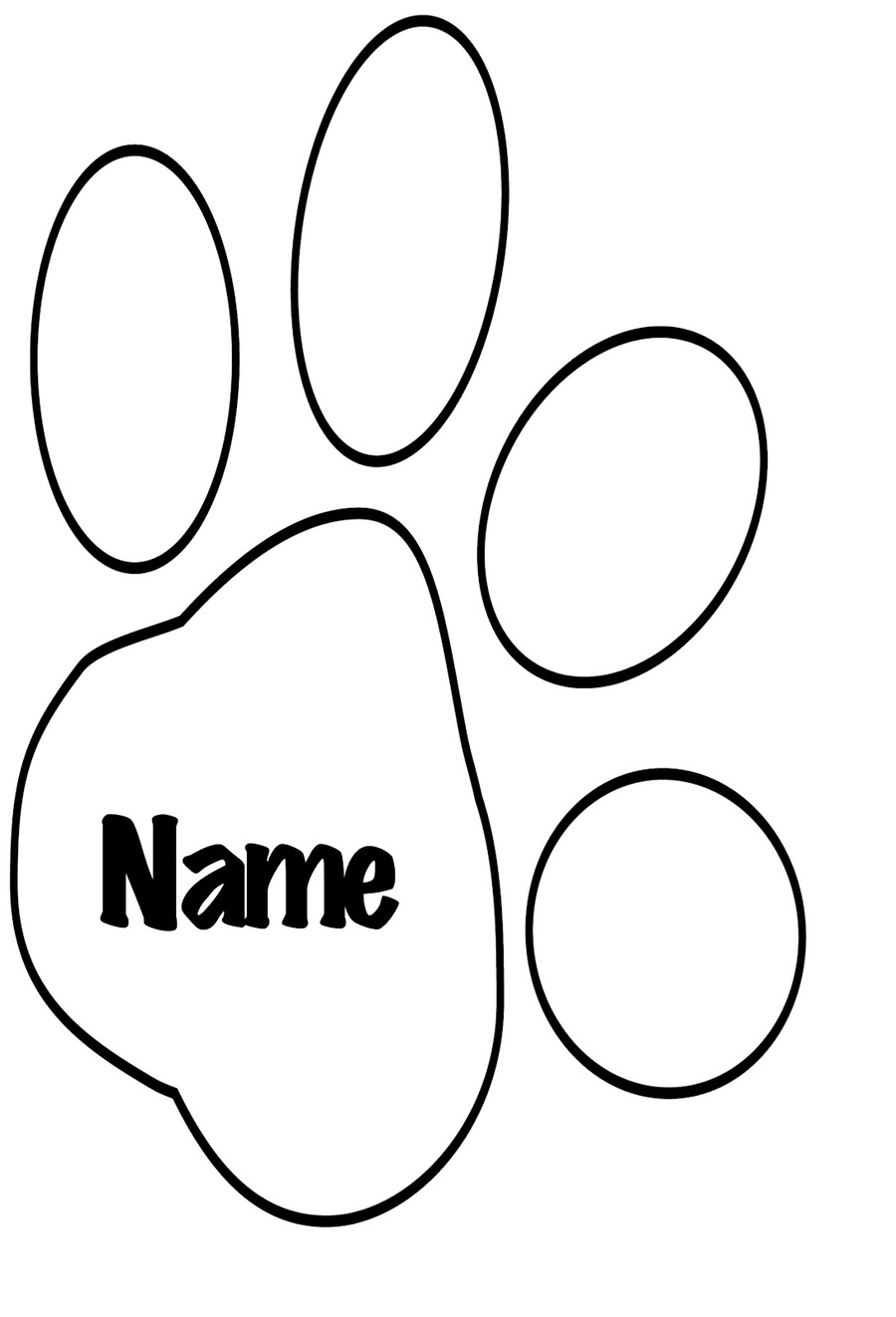 medium resolution of wolf paw print template clipart dog tiger cat