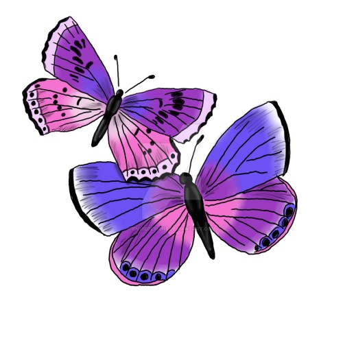 small resolution of 2 purple butterfly clipart monarch butterfly clip art