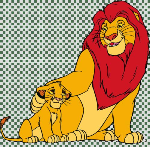 small resolution of cartoon lion king clipart simba lion mufasa