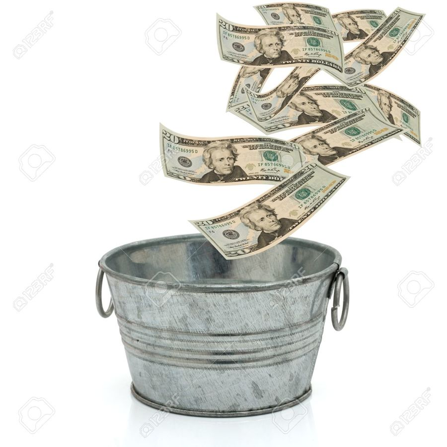 hight resolution of bucket of money clipart stock photography live richer challenge learn how to budget save