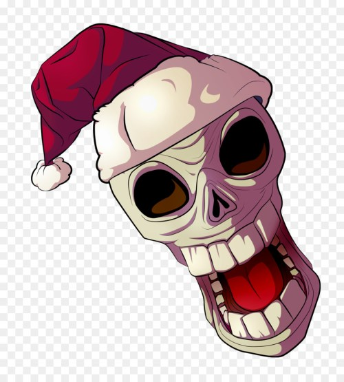 small resolution of download skull with santa hat clipart santa claus clip art hat