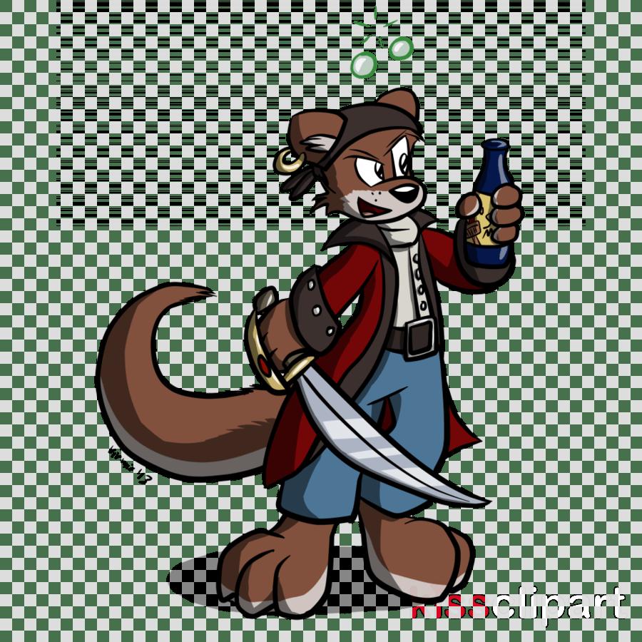 medium resolution of pirate otter clipart otter ferret clip art