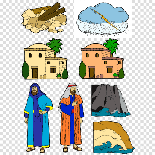 small resolution of wise man and foolish man clipart parable of the wise and the foolish builders wisdom clip