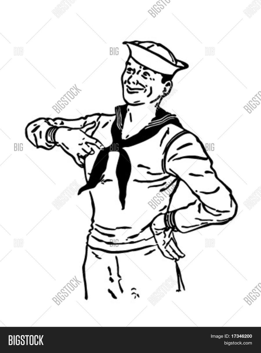 hight resolution of download sailor clip art clipart black and white clip art man hand hat