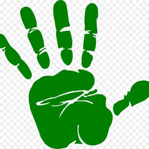 small resolution of dark green handprint clipart hand clip art