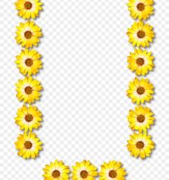 alphabet clipart alphabet letter common sunflower [ 900 x 1260 Pixel ]