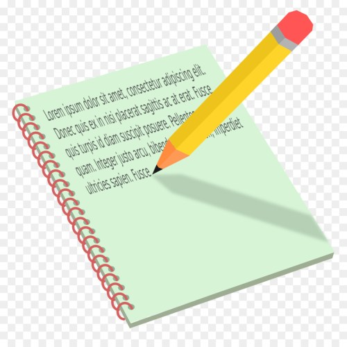 small resolution of pencil clipart notebook paper pencil