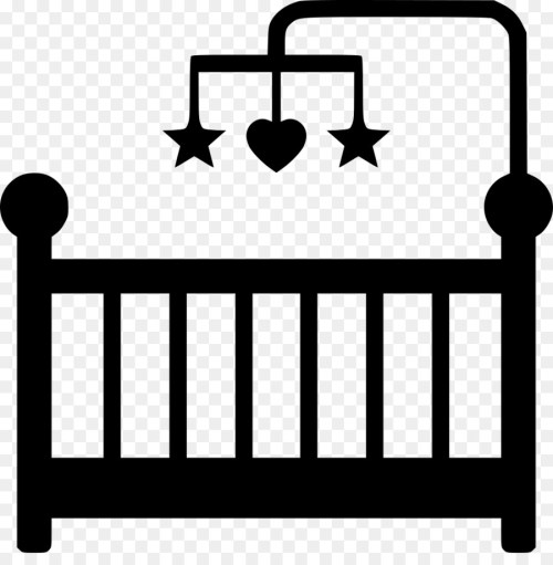 small resolution of baby crib clipart