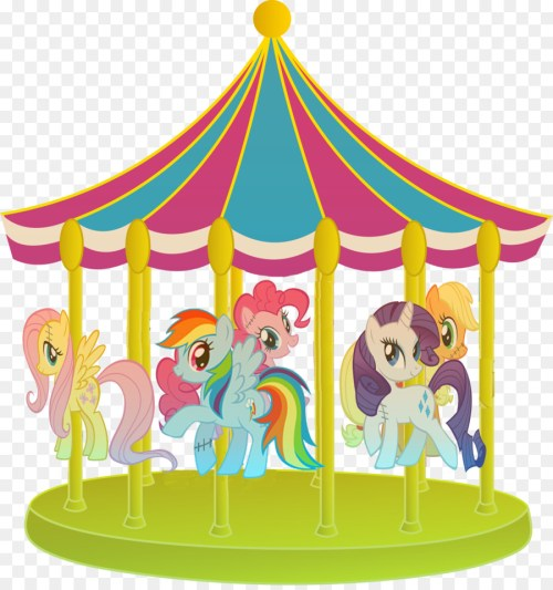 small resolution of my little pony carousel clipart pony rainbow dash horse