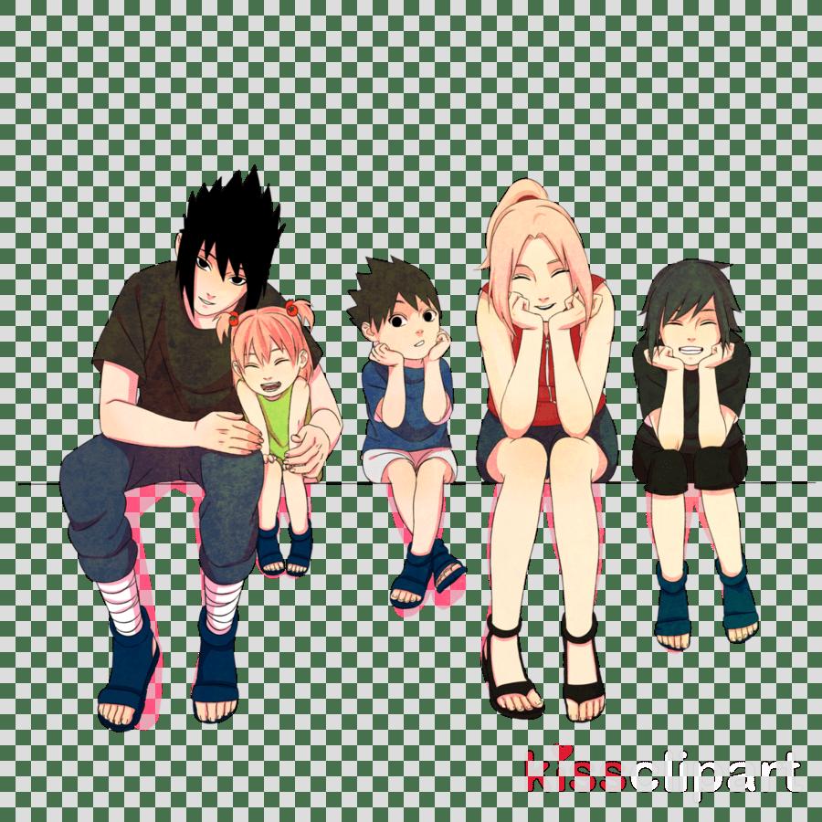 medium resolution of sasuke and sakura s family clipart sasuke uchiha sakura haruno sarada uchiha