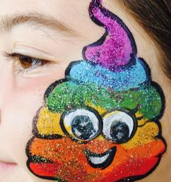 download rainbow poop face paint clipart painting modern art painting paint art [ 900 x 1084 Pixel ]