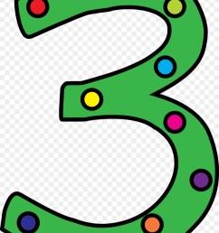 polka dot number three clipart clip art [ 900 x 1260 Pixel ]