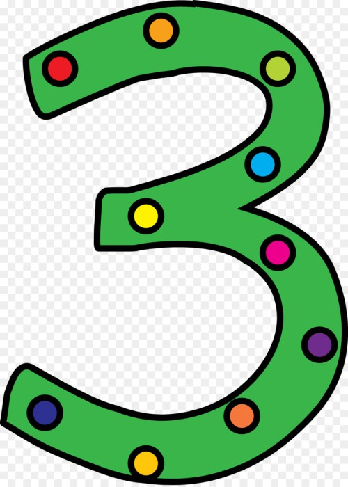 small resolution of polka dot number three clipart clip art