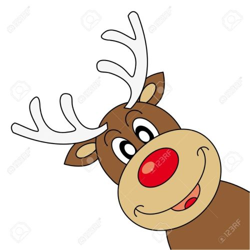 small resolution of christmas funny reindeer clipart reindeer rudolph santa claus