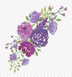 purple flowers clipart borders and frames watercolour flowers clip art [ 900 x 900 Pixel ]
