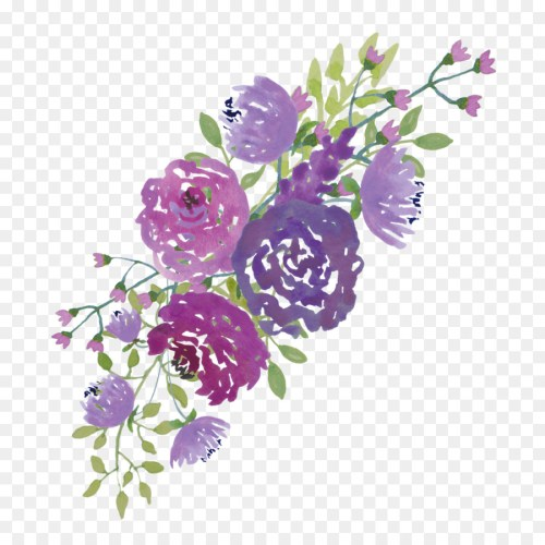 small resolution of purple flowers clipart borders and frames watercolour flowers clip art