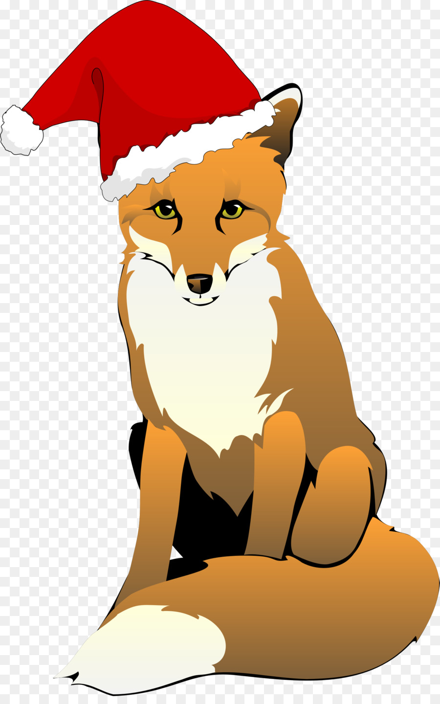 hight resolution of fox with santa hat clipart santa claus santa suit clip art