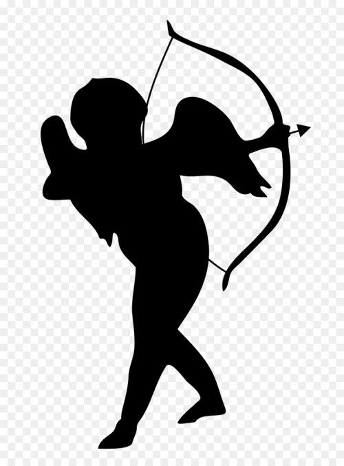 small resolution of cupid silhouette png clipart cupid clip art