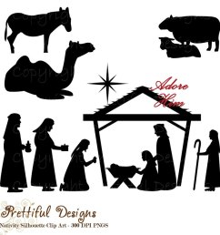 nativity scene animals silhouette clipart nativity scene biblical magi clip art [ 900 x 900 Pixel ]
