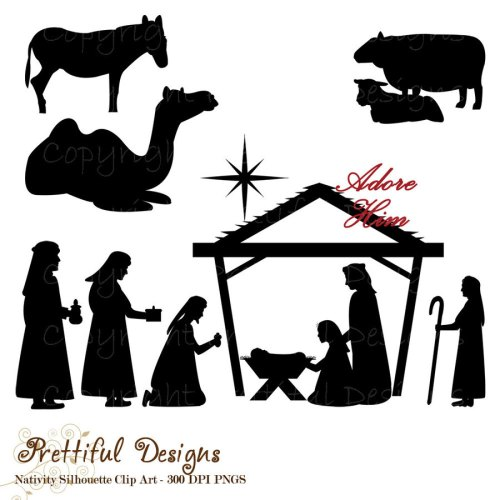 small resolution of nativity scene animals silhouette clipart nativity scene biblical magi clip art