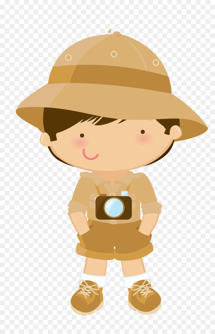 hight resolution of safari boy png clipart clip art