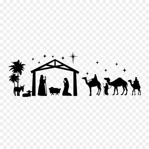 small resolution of christmas daynativity scenesanta clausnativity of jesuschristmas ornamentsticker