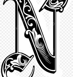 gothic letter n clipart letter n font [ 900 x 1220 Pixel ]