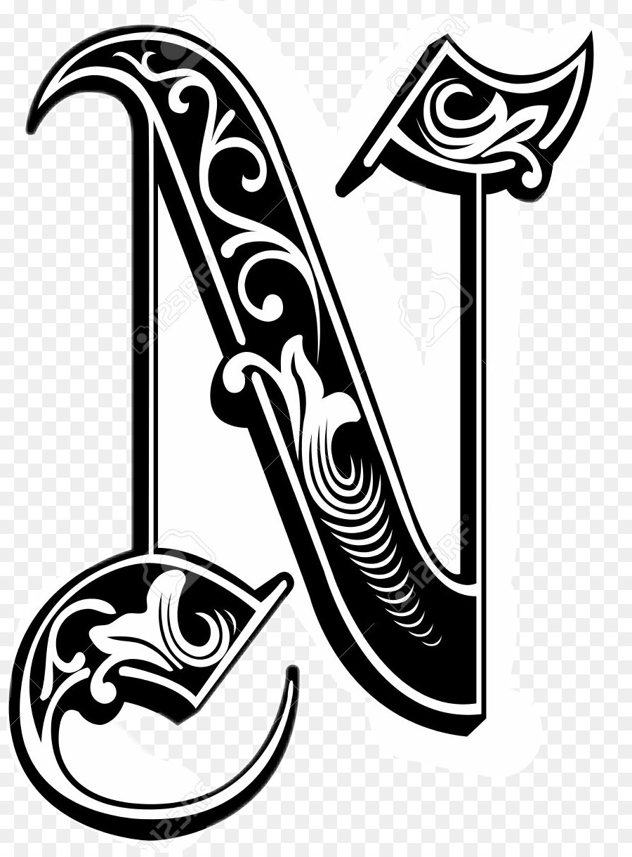 hight resolution of gothic letter n clipart letter n font