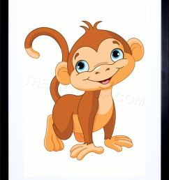 monkey vector clipart macaque clip art [ 900 x 1181 Pixel ]