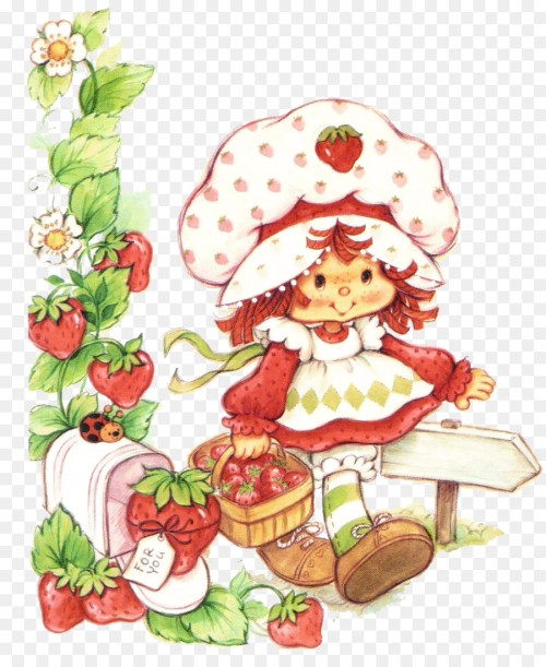 small resolution of strawberry shortcake vintage clipart strawberry shortcake american muffins