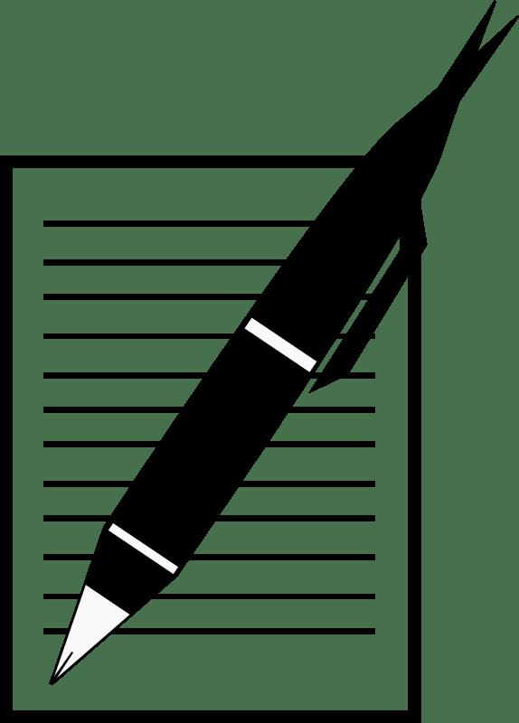 Pen And Notebook Clipart Clipart Paper Notebook Black Transparent Clip Art