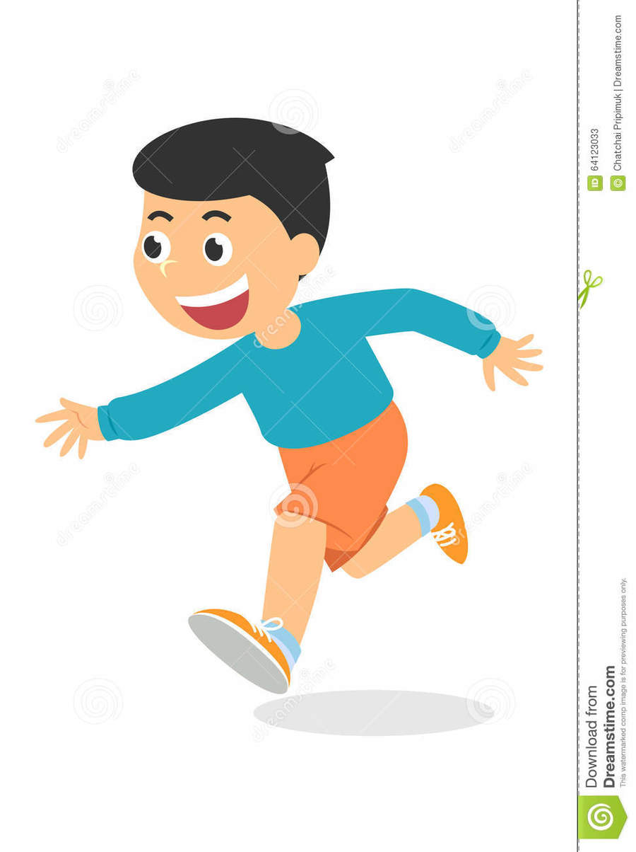 hight resolution of cartoon picture of a boy running clipart clip art