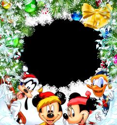 disney christmas border clipart mickey mouse minnie mouse santa claus [ 850 x 1093 Pixel ]