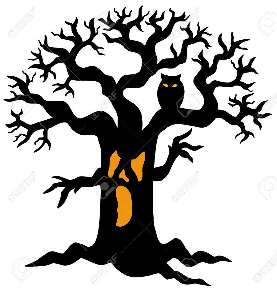 hight resolution of spooky tree clipart clip art