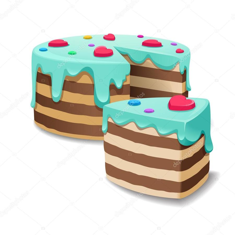 hight resolution of cake slice vector clipart chocolate cake cream bakery